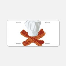 Bacon Chef Aluminum License Plate