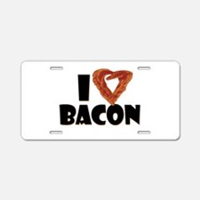 I Heart Bacon Aluminum License Plate