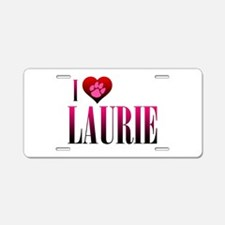 I Heart Laurie Aluminum License Plate