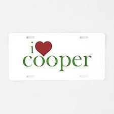 I Heart Cooper Aluminum License Plate
