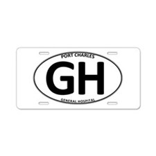 General Hospital - GH Oval Aluminum License Plate