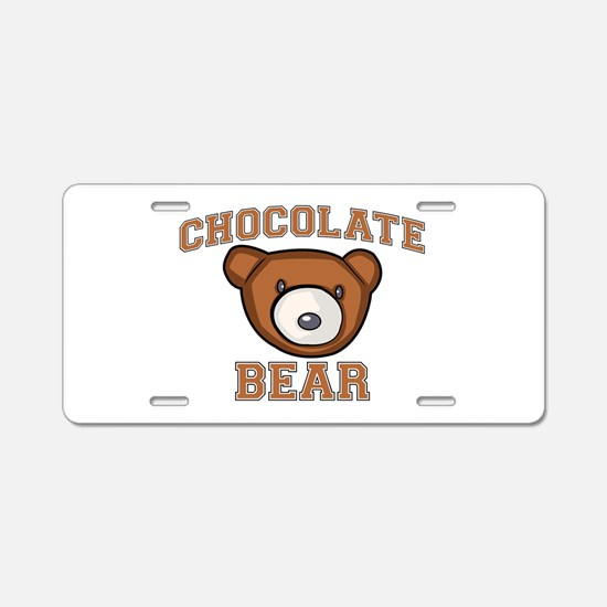 Chocolate Bear Aluminum License Plate