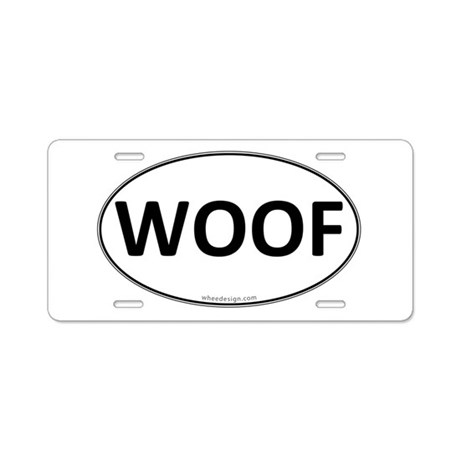 WOOF Euro Oval Aluminum License Plate