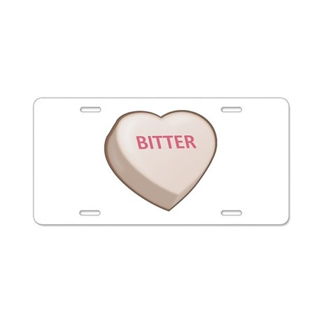 Bitter Candy Heart Aluminum License Plate