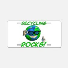 Recycling Rocks! Aluminum License Plate