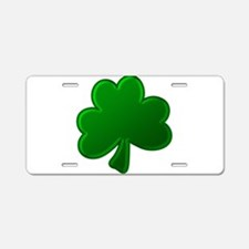Lucky Green Clover Aluminum License Plate