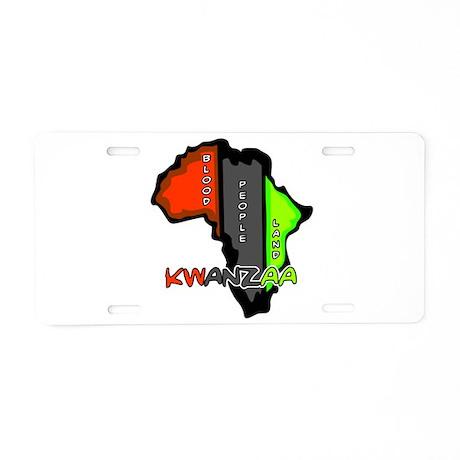 Kwanzaa Africa Aluminum License Plate