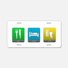Eat, Sleep, Lift Aluminum License Plate