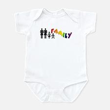 Lesbian Pride Family Infant Creeper