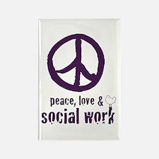 Peace, Love, & SW Rectangle Magnet (10 pk)