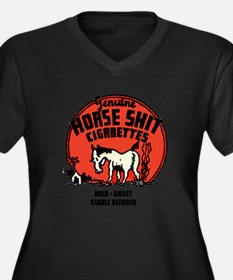 Horse Shit Cigarettes Women's Plus Size V-Neck Dar