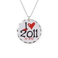I heart 2011 a lot Necklace Circle Charm