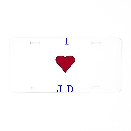 Heart J.D. Aluminum License Plate