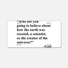 Scientist Vs God Aluminum License Plate