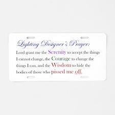 Light Designer Prayer Aluminum License Plate