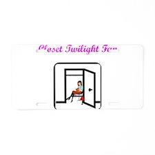 Closet Twilight Fan Aluminum License Plate
