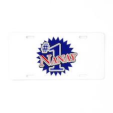 Number 1 Nanay Aluminum License Plate