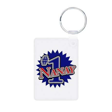Number 1 Nanay Aluminum Photo Keychain