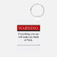 Everything...Nick Aluminum Photo Keychain