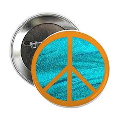 Orange Peace Symbol 2.25