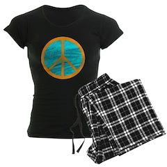 Orange Peace Symbol Pajamas