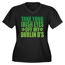 Irish Eyes Green Plus Size T-Shirt