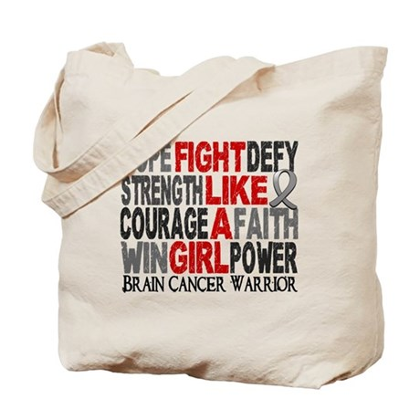 Licensed Fight Like a Girl 23.4 Brain Can Tote Bag
