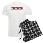 Philippine Flags Men's Light Pajamas