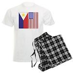 Philippine Flag & US Flag Men's Light Pajamas