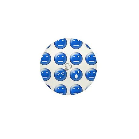 Farting Faces Mini Button