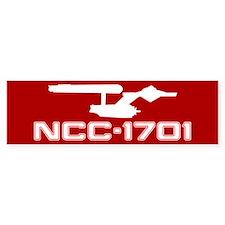 NCC-1701 (red) Bumper Stickers