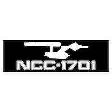 NCC-1701 (black) Bumper Sticker