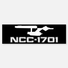 NCC-1701 (black) Bumper Bumper Sticker