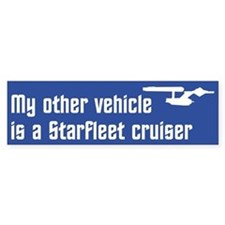 My Other Vehicle (blue) Bumper Sticker