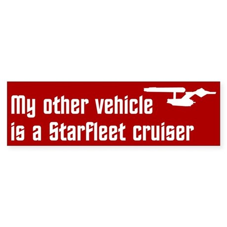 My Other Vehicle (red) Sticker (Bumper 10 pk)