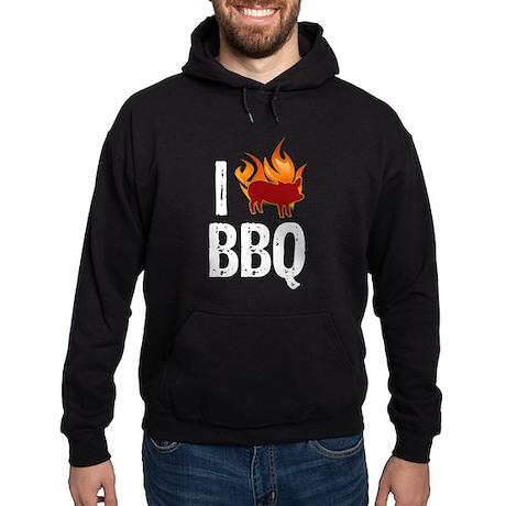 I (HEART) BBQ Hoodie (dark)