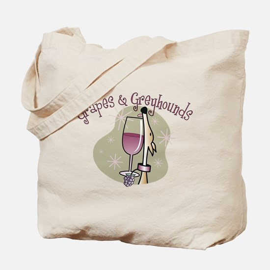 Grapes and Greyhounds Tote Bag