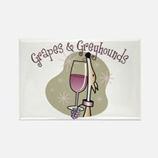 Grapes and Greyhounds Rectangle Magnet (10 pack)