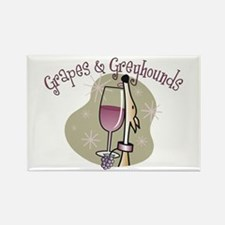 Grapes and Greyhounds Rectangle Magnet