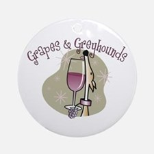Grapes and Greyhounds Ornament (Round)