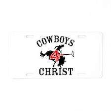 Cowboys-4-Christ Aluminum License Plate