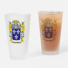 Tillmon Family Crest - Coat of Arms Drinking Glass