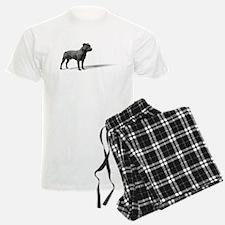 Standing Staffordshire BUll Terrier Pajamas