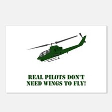 Cool Apache helicopter Postcards (Package of 8)