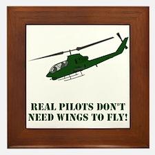 Funny Helicopters Framed Tile