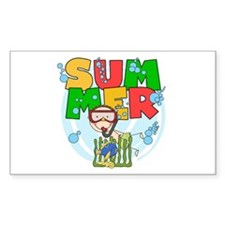 Boy Snorkeling Summer Decal
