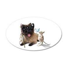 Cairn Terrier with Rat Wall Decal