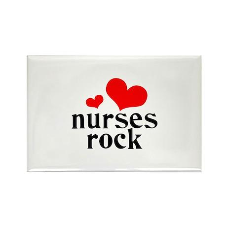 Nurses Rock Rectangle Magnet (10 pack)