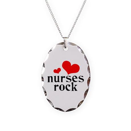 Nurses Rock Necklace Oval Charm