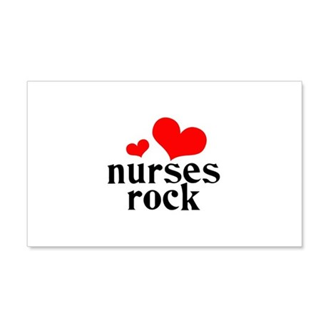 Nurses Rock 22x14 Wall Peel